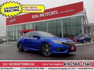 Used 2017 Honda Civic Sedan EX-T | 1 OWNR| BU CAM | SUNROOF | BT | 44K | TINTS for sale in Georgetown, ON