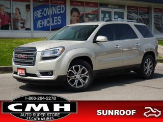 Used 2014 GMC Acadia SLT1  CAM ROOF LEATH HTD-SEATS 19-AL for sale in St. Catharines, ON