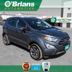 Used 2020 Ford EcoSport Titanium w/Mfg Warranty, AWD, Leather, Navigation, Loaded! for sale in Saskatoon, SK