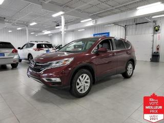 Used 2015 Honda CR-V EX-L AWD - CUIR + TOIT + JAMAIS ACCIDENTE !!! for sale in St-Eustache, QC