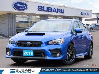 Used 2018 Subaru WRX Sport-tech w/Tech Pkg - ONE OWNER - CLEAN CARFAX!!! for sale in Sudbury, ON