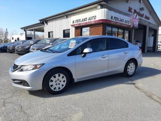 Used 2013 Honda Civic 4 portes, boîte manuelle, LX for sale in Sherbrooke, QC