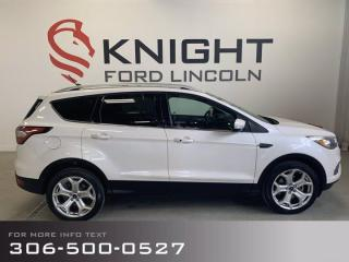 Used 2018 Ford Escape Titanium, Pano Roof, Ambient lighting, Heated seats + MORE! for sale in Moose Jaw, SK