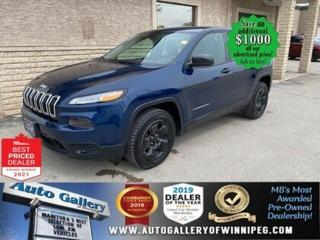 Used 2018 Jeep Cherokee Sport* Bluetooth/9 Speed/Air Conditioning for sale in Winnipeg, MB
