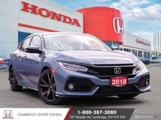 Used 2018 Honda Civic Sport Touring REARVIEW CAMERA | APPLE CARPLAY™ & ANDROID AUTO™ | LANEWATCH™ CAMERA for sale in Cambridge, ON