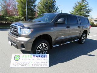 Used 2013 Toyota Tundra Tundra CrewMax 5.7L 4WD LEATHER, MOONROOF, FINANCING, INSPECTED, WARRANTY & BCAA MEMBERSHIP! for sale in Surrey, BC