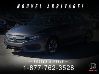 Used 2016 Honda Civic LX + AUTO + A/C + CRUISE + CAMERA + WOW! for sale in St-Basile-le-Grand, QC