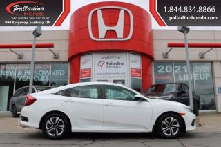 Used 2018 Honda Civic Sedan LX - HONDA CERTIFIED - RATES STARTING @ 3.69% - for sale in Sudbury, ON