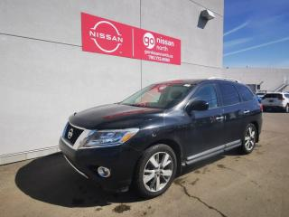 Used 2015 Nissan Pathfinder Platinum / Loaded / 7 Passenger / Leather / Camera / Roof for sale in Edmonton, AB
