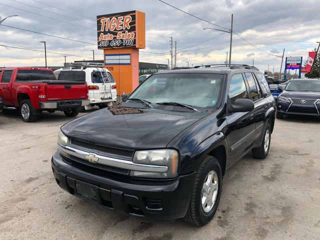 2003 Chevrolet TrailBlazer 4x4**ONLY 155KMS**HITCH**RUNS WELL**AS IS