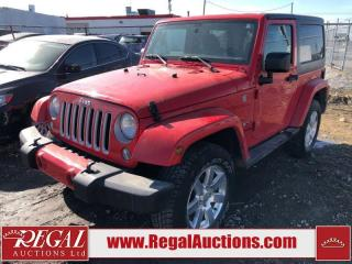 Used 2017 Jeep Wrangler Sahara 2D Utility 4WD 3.6L for sale in Calgary, AB
