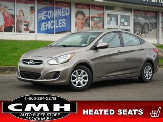 Used 2013 Hyundai Accent GL  HTD-SEATS S/W-AUDIO PWR-GROUP AUTO for sale in St. Catharines, ON