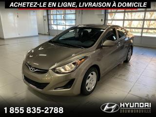 Used 2016 Hyundai Elantra GL + GARANTIE + A/C + CRUISE + SIEGES CH for sale in Drummondville, QC