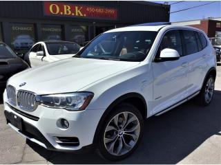 Used 2017 BMW X3 NAVIGATION-AWD-xDrive28i-TOIT PANO-CAM RECUL- for sale in Laval, QC