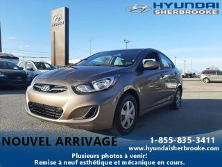 Used 2013 Hyundai Accent GL MANUELLE AIR CLIM BANCS CHAUFF CRUISE for sale in Sherbrooke, QC
