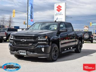 Used 2017 Chevrolet Silverado 1500 LTZ Crew Cab 4x4 ~Heated/Cooled Leather ~Cam ~Roof for sale in Barrie, ON