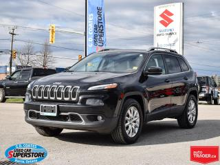 Used 2016 Jeep Cherokee Limited 4x4 ~3.2 V6 ~Nav ~Cam ~Leather ~Pano Roof for sale in Barrie, ON