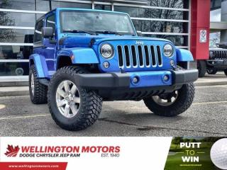 Used 2016 Jeep Wrangler Sahara | Low Km | One Owner | Accident Free !! for sale in Guelph, ON