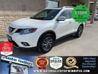 Used 2016 Nissan Rogue SL* AWD/Heated Seats/Sunroof/Leather/NAVIGATION for sale in Winnipeg, MB