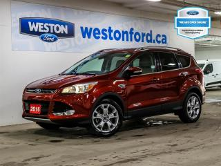 Used 2016 Ford Escape TITANIUM+REMOTE START+LEATHER+CAMERA+CERTIFIED for sale in Toronto, ON