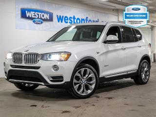 Used 2017 BMW X3 xDrive28i+LEATHER+PANORAMICROOF+NAVIGATION+CERTIFIED for sale in Toronto, ON