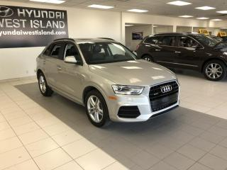 Used 2017 Audi Q3 2.0T KOMFORT QUATTRO CUIR TOIT MAGS 18'' for sale in Dorval, QC
