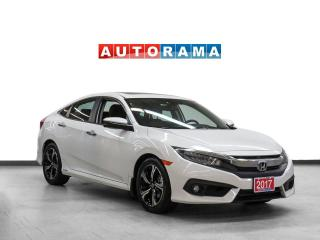 Used 2017 Honda Civic Touring Turbo Leather Sunroof Backup Cam for sale in Toronto, ON