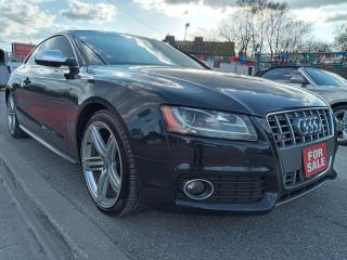 Used 2010 Audi S5 AWD-LEATHER-NAVI-BK UP CAM-SUNROOF-BLUETOOTH-ALLOY for sale in Scarborough, ON