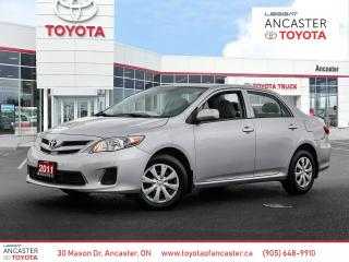 Used 2011 Toyota Corolla CE | LOW KMS | POWER WINDOWS for sale in Ancaster, ON