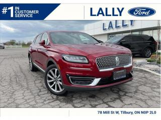 Used 2019 Lincoln Nautilus Select, One Owner, Only 21,265 km's, Mint!! for sale in Tilbury, ON