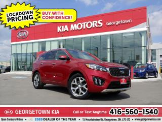 Used 2016 Kia Sorento TURBO SX | LTHR | NAV | PANO ROOF | HTD SEATS |72K for sale in Georgetown, ON