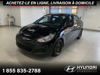 Used 2013 Hyundai Accent GL + GARANTIE + A/C + CRUISE + WOW !! for sale in Drummondville, QC