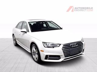 Used 2018 Audi A4 TECHNIK 2.0T AWD CUIR TOIT GPS for sale in St-Hubert, QC