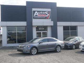 Used 2016 Volkswagen Passat 1.8 TSI HIGHLINE + INSPECTÉ + CUIR + GPS for sale in Sherbrooke, QC