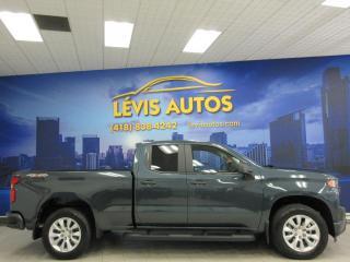 Used 2020 Chevrolet Silverado 1500 CUSTOM V8 5.3L 4X4 4800KM COMME NEUF DOU for sale in Lévis, QC