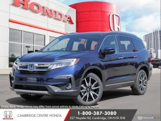 New 2021 Honda Pilot Touring 8P SATELLITE RADIO EQUIPPED | POWER SUNROOF | LANEWATCH™ CAMERA for sale in Cambridge, ON