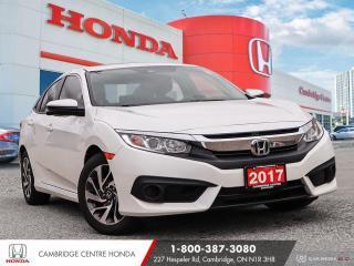 Used 2017 Honda Civic EX HONDA LANEWATCH™ CAMERA | POWER SUNROOF | APPLE CARPLAY™ & ANDROID AUTO™ for sale in Cambridge, ON