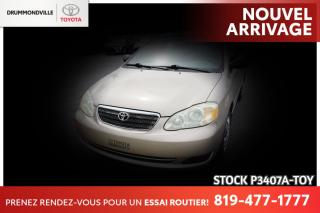 Used 2005 Toyota Corolla AUTOMATIQUE| BAS KILO| EXTRA PROPRE for sale in Drummondville, QC