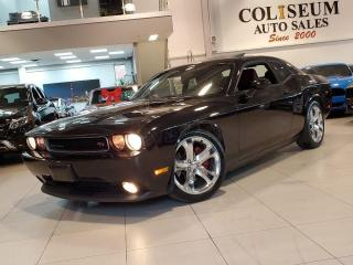 Used 2013 Dodge Challenger R/T COUPE-5.7L V8 HEMI-6 SPEED MANUAL-RED LEATHER for sale in Toronto, ON