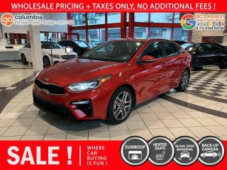 Used 2020 Kia Forte EX - Accident Free / Sunroof / No Dealer Fees / Heated Seats for sale in Richmond, BC