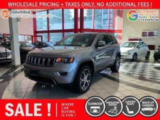 Used 2019 Jeep Grand Cherokee Limited - Accident Free / Nav / Leather / No Dealer Fees for sale in Richmond, BC