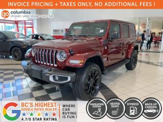 New 2021 Jeep Wrangler Unlimited Sahara 4XE for sale in Richmond, BC
