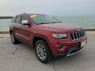 Used 2015 Jeep Grand Cherokee Limited Low K's 4x4 Heated Leather Moon Roof Bluetooth Backup Cam for sale in Belle River, ON