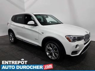 Used 2017 BMW X3 AWD - NAVIGATION - CUIR - CLIMATISEUR for sale in Laval, QC