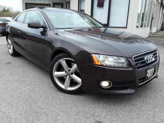 Used 2011 Audi A5 Coupe 2.0T QUATTRO - LEATHER! HEATED SEATS! PANO ROOF! for sale in Kitchener, ON