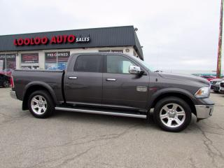 Used 2015 RAM 1500 Longhorn Crew Cab 4WD Eco Diesel Navi Camera Certified for sale in Milton, ON