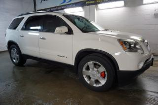 Used 2008 GMC Acadia SLT AWD 7 PSSNGRS NAVI CAMERA DVD CERTIFIED 2YR WARRANTY DUAL SUNROOF BLUETOOTH HEATED LEATHER ALLOYS for sale in Milton, ON
