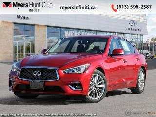 Used 2021 Infiniti Q50 LUXE  - Navigation -  Sunroof for sale in Ottawa, ON