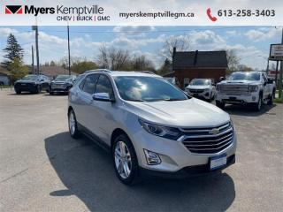 Used 2018 Chevrolet Equinox Premier  - Leather Seats for sale in Kemptville, ON