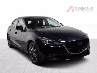Used 2018 Mazda MAZDA3 Sport GT Hatchback A/C Mags Cuir Toit GPS Caméra for sale in St-Hubert, QC